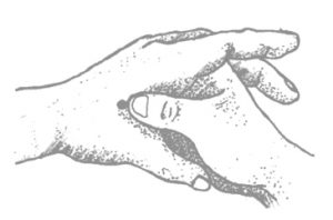 Acupressure point to calm and relieve pain
