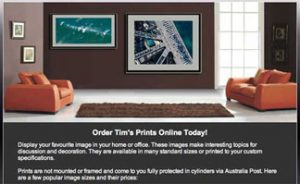 New web page for ordering photographic enlargements