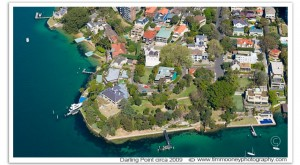 Aerial photograph of Darling Point Sydney
